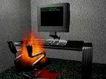 Сгорел за компьютером