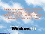 Подождите пока все Ваши деньги отправятся в Microsoft